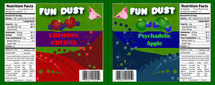 Fun Dust Candy Wrapper 2 (Backside)
