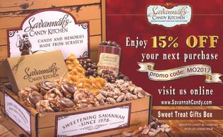 Savannah's Candy Kitchen mail insert