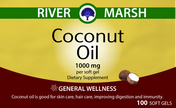 Coconut Oil Vitamin label