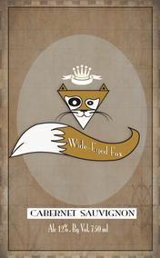 Wide-Eyed Fox wine label
