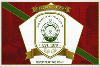 Rising Foam beer label