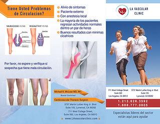 LA Vascular Clinic Trifold Brochure (Spanish & English)