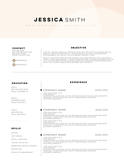 hairstylist resume