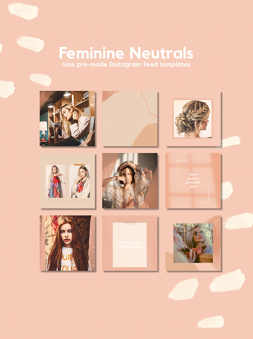 Social Template - Feminine Neutrals