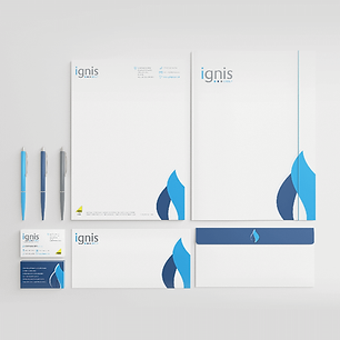 IGNIS LOGO & STATIONERY Zest! Graphics Ltd - Graphic Design and Print Redditch Worcestershire