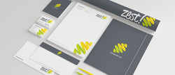 ZEST GRAPHICS LOGO, STATIONERY BRANDING