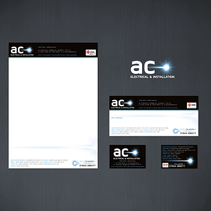 AC ELECTRICAL LOGO DESIGN AND STATIONERY Zest! Graphics Ltd - Graphic Design and Print Redditch Worcestershire
