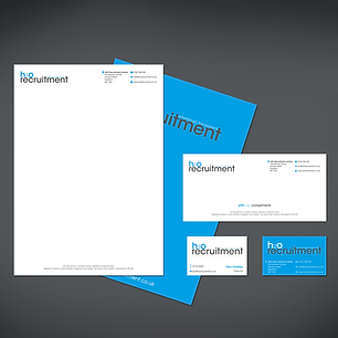 H20 RECRUITMENT STATIONERY LOGO DESIGN BUSINESS CARDS & LETTERHEADS Zest! Graphics Ltd - Graphic Design and Print Redditch Worcestershire