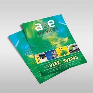 A&E SOMERSET FLYERS Zest! Graphics Ltd - Graphic Design and Print Redditch Worcestershire