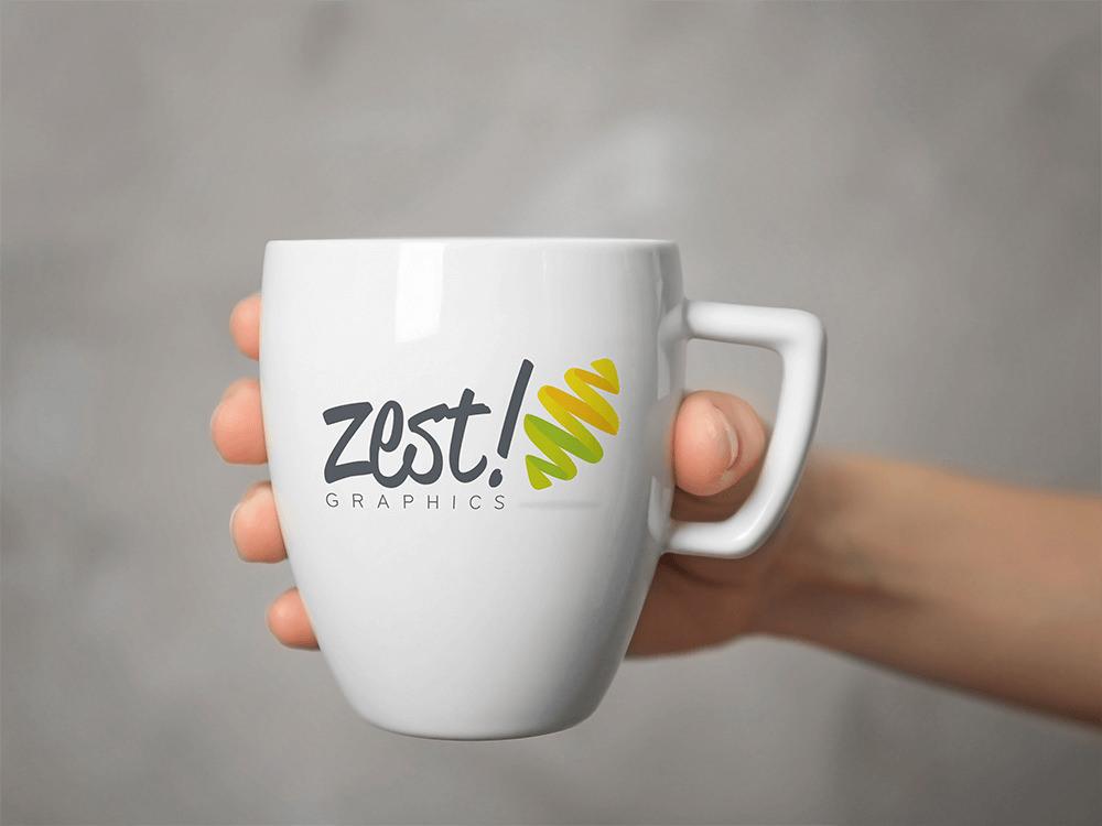 ZEST! GRAPHICS MUG PROMOTIONAL GIVEAWAYS Zest! Graphics Ltd - Graphic Design and Print Redditch Worc