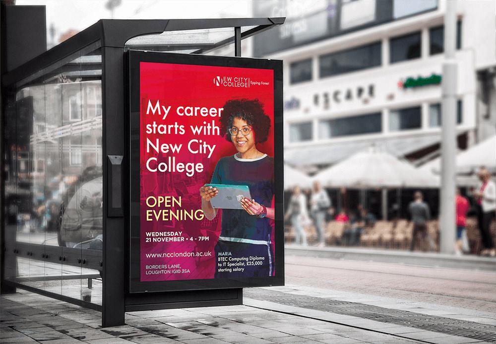 NCC Bus Stop Billboard Poster Zest! Graphics -Graphic Designer Redditch Worcestershire