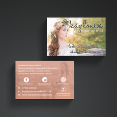 BEAUTIFUL DOUBLE-SIDED BUSINESS CARDS WITH SOFT TOUCH LAMINATE