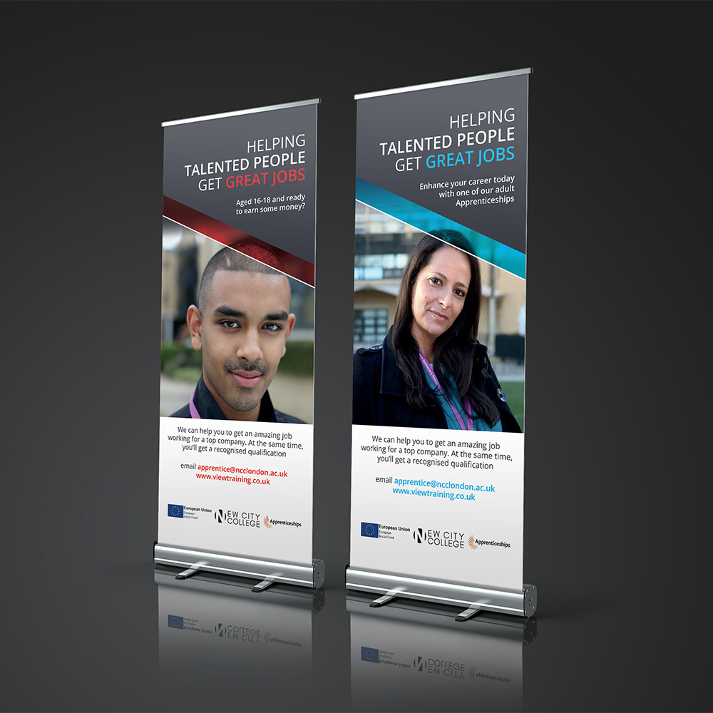APPRENTICESHIPS ROLLER BANNERS Zest! Graphics Ltd - Graphic Design and Print Redditch Worcestershire
