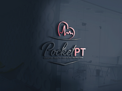 POCKET PT LGOG 3d glass window logo