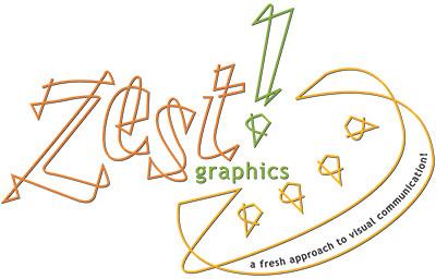 The original Zest! Graphics logo