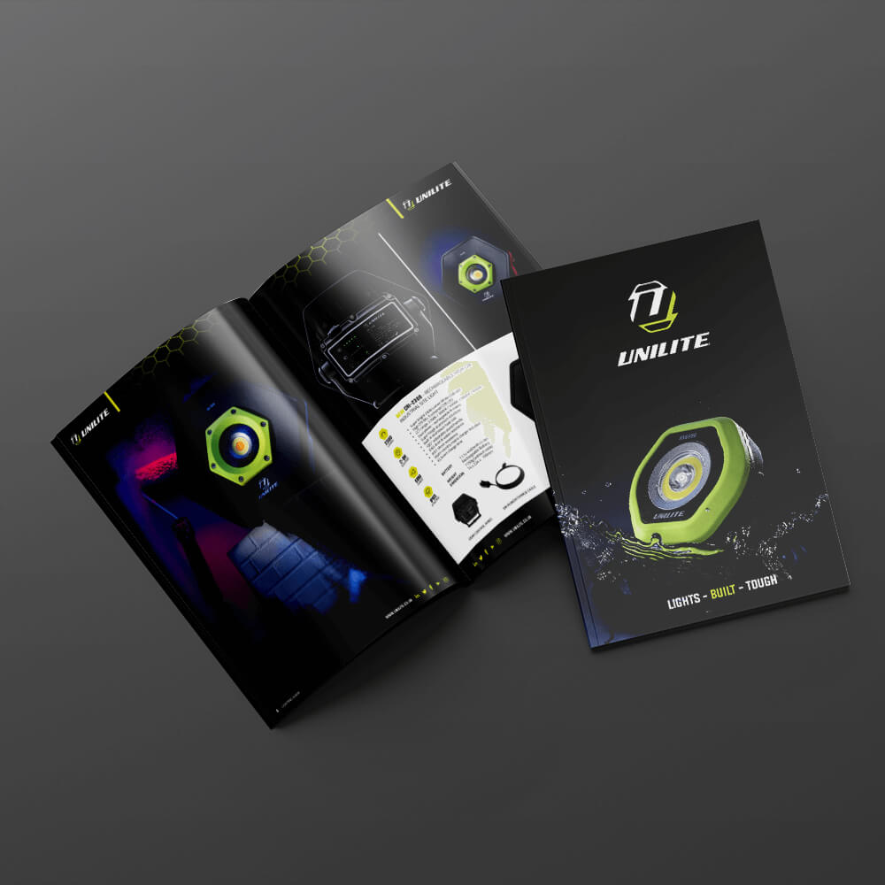UNILITE Brochure Zest! Graphics Ltd - Graphic Design and Print Redditch Worcestershire