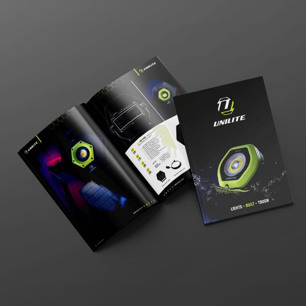 UNILITE Brochure Zest! Graphics Ltd - Graphic Design and Print Redditch Worcestershire