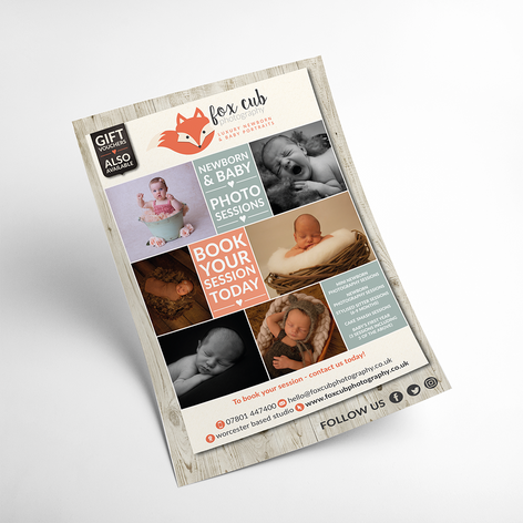 A5 DOUBLE-SIDED PROMOTIONAL FLYERS