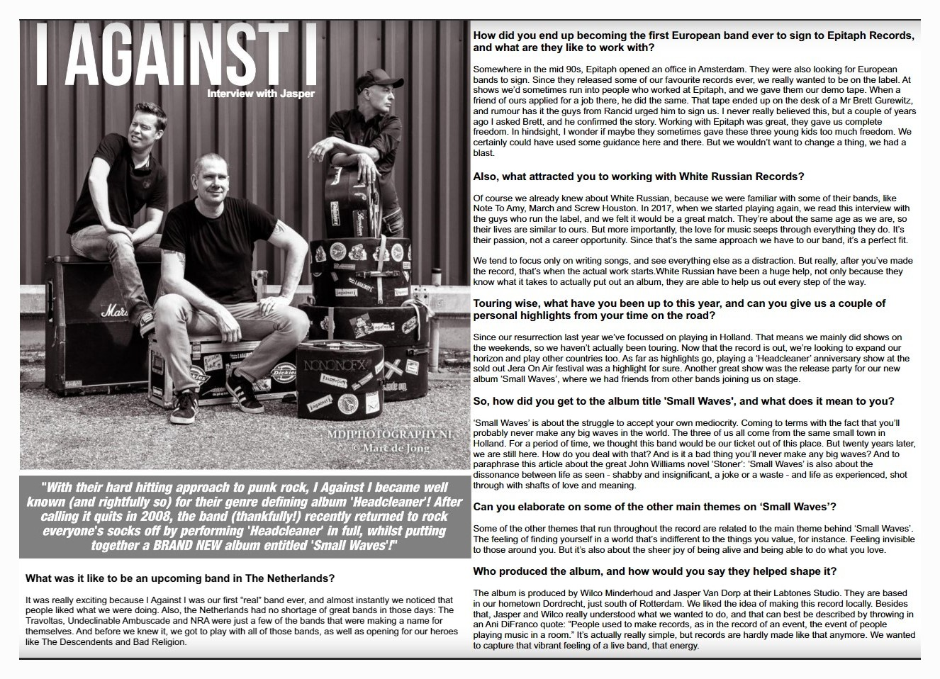 """ I Against I "" in Stencil Mag"