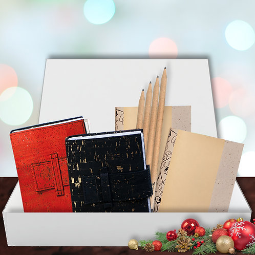Eco Journal Gift Set - Red & Black
