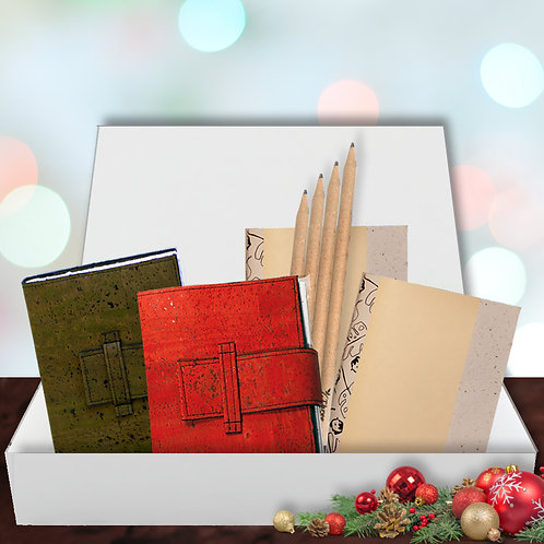 Eco Journal Gift Set - Red & Green
