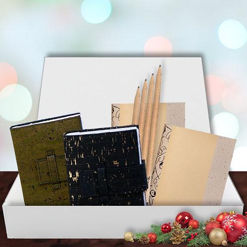 Eco Journal Gift Set - Green & Black