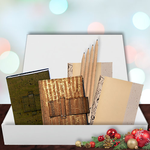 Eco Journal Gift Set - Green & Gold