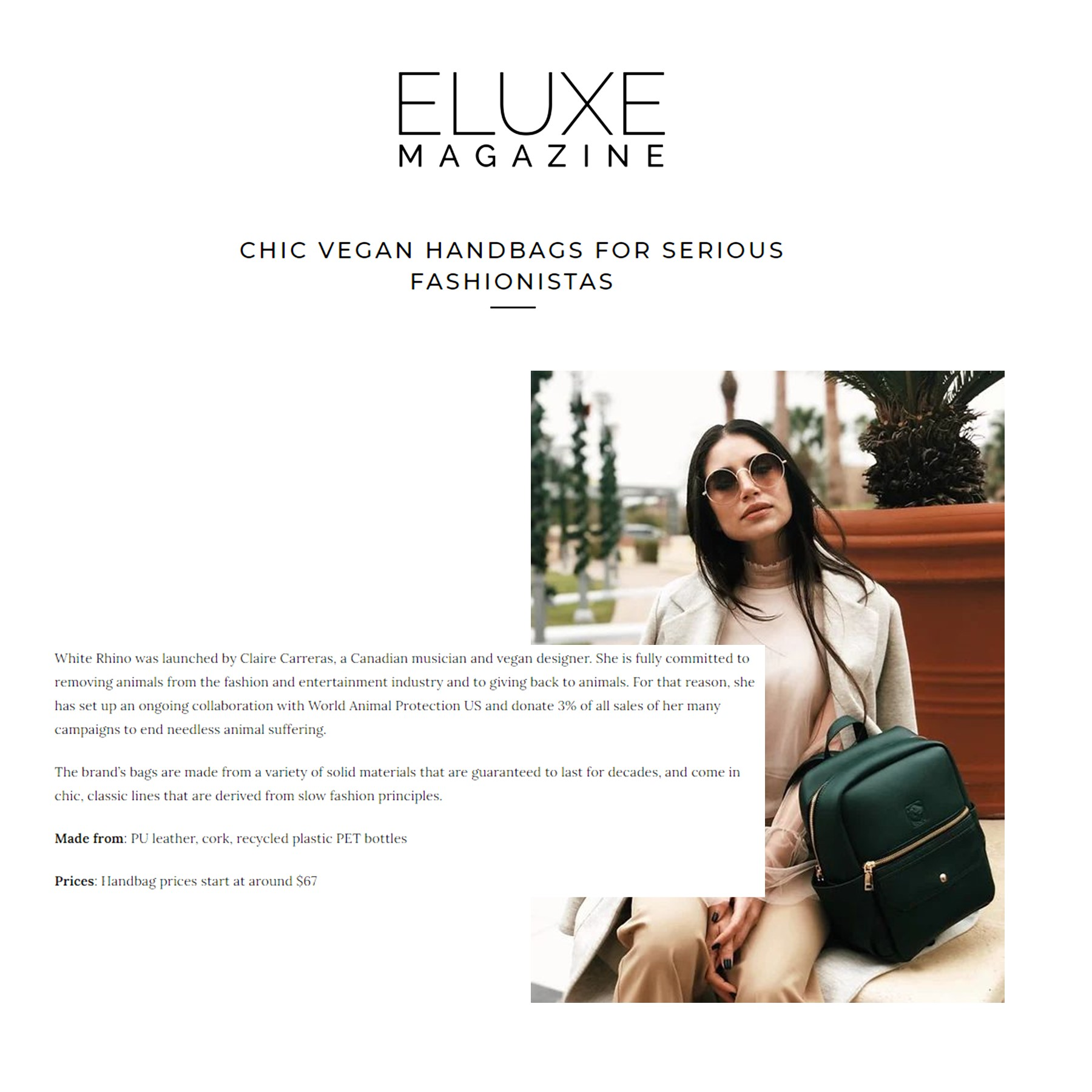 Feature in Eluxe Magazine