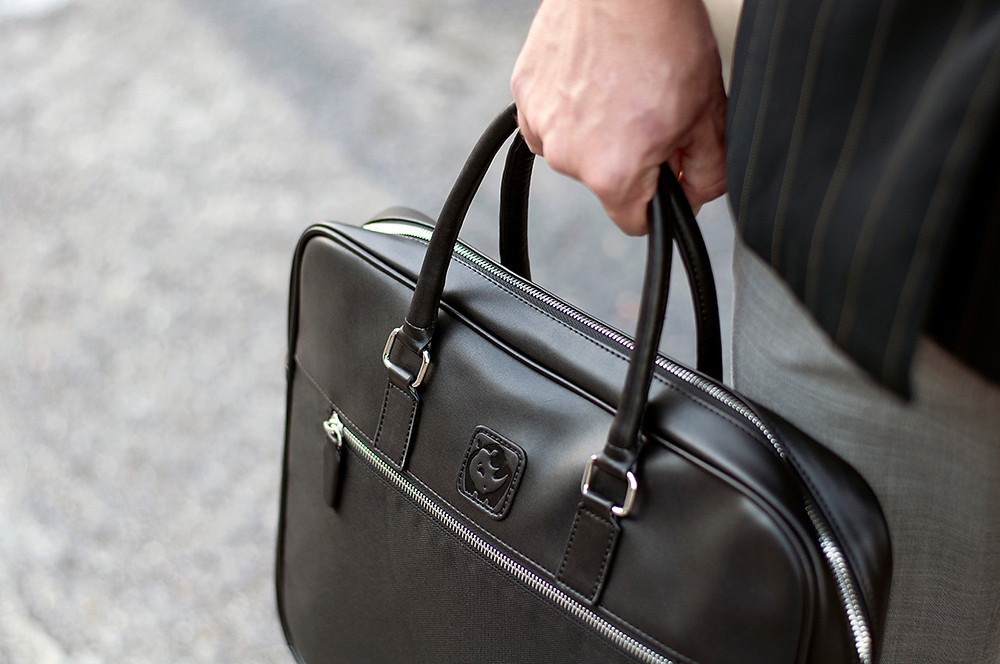 """rPET briefcase """"The Boss"""" by White Rhino Bags"""