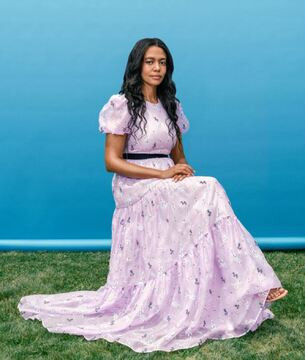 An image of designer Aurora James