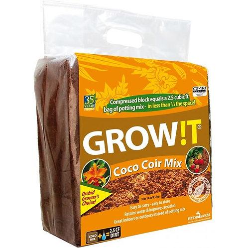 GROW!T ORGANIC COCO COIR MIX, BLOCK