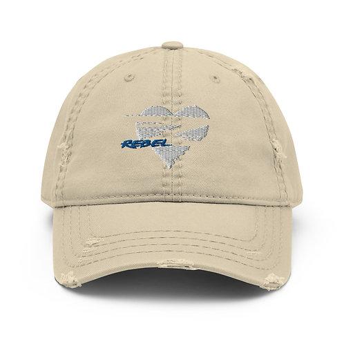 Rebel Distressed Dad Hat