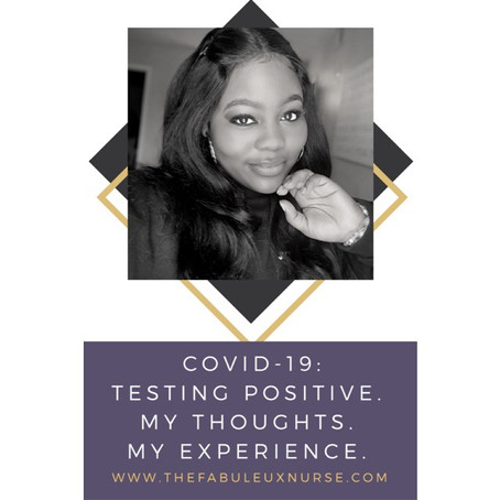 Covid-19: Testing positive. My thoughts. My experience.