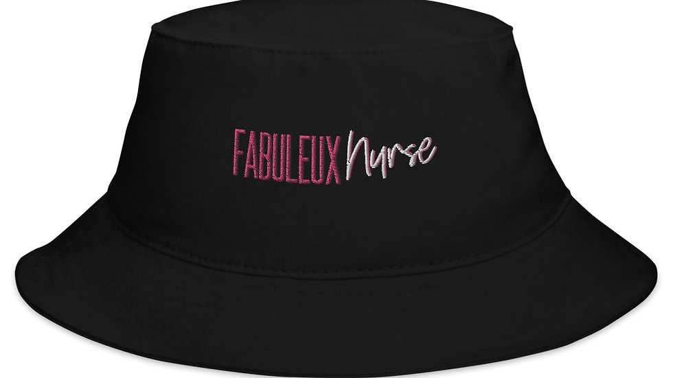 Embroidered Fabuleux Nurse Bucket Hat