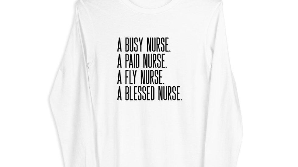 A Blessed Nurse - Unisex Long Sleeve Tee