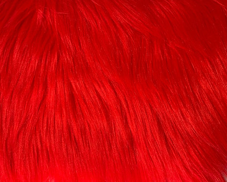 Fire Red Luxury Shag Faux Fur