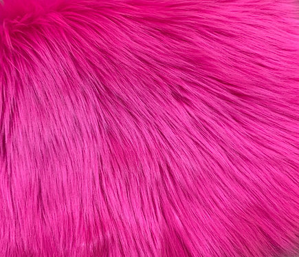 UV Hot Pink Luxury Shag Faux Fur