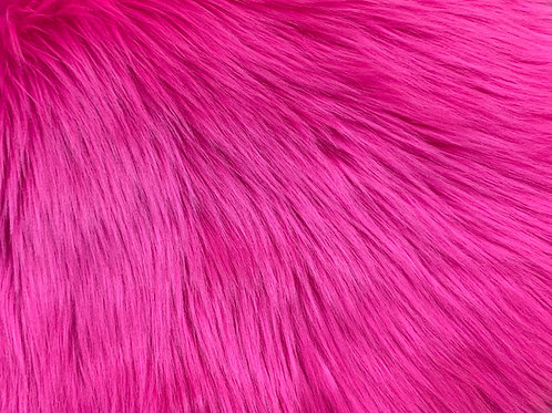 UV Hot Pink Luxury Shag Faux Fur