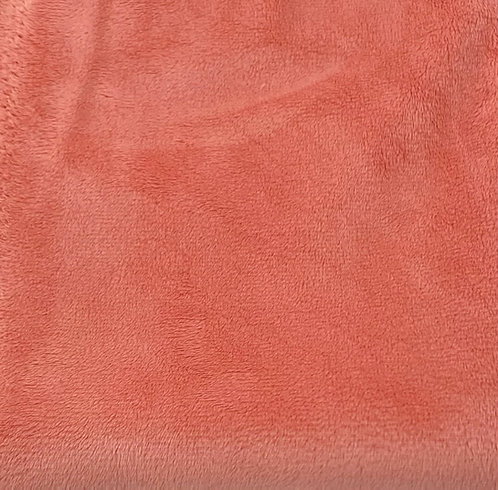 Salmon (HF) Minky Cuddle Solid Fabric