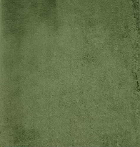 Olive Minky Cuddle Solid Fabric