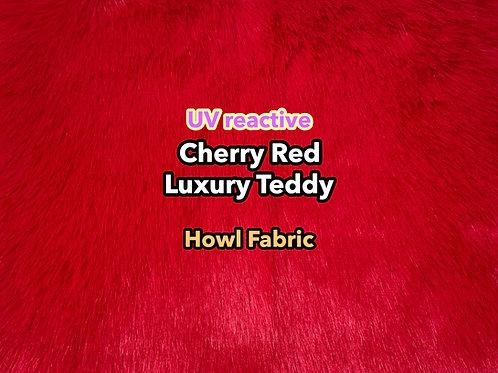 UV Cherry Red Luxury Teddy Faux Fur