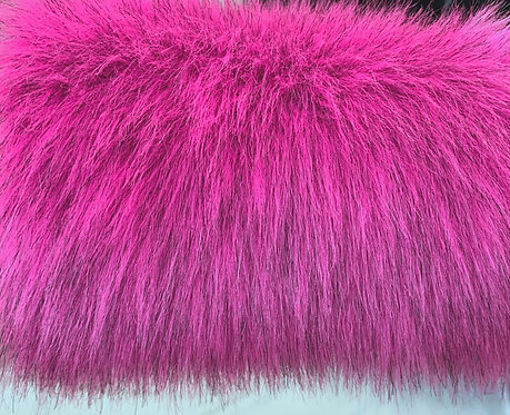 UV Reactive Pink Faux Fur Fabric