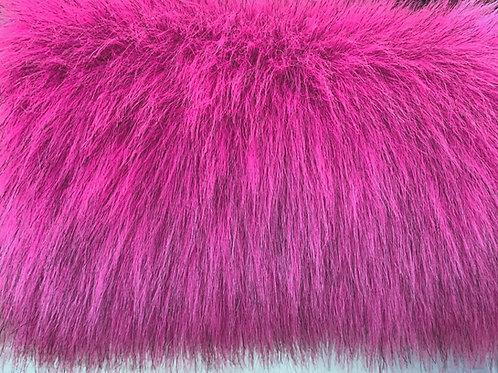 UV Reactive Pink Faux Fur Fabric