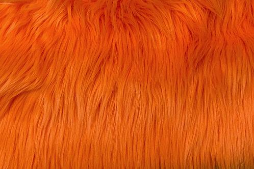 Orange Luxury Shag Faux Fur