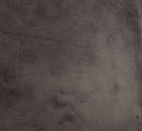 Pewter Minky Cuddle Solid Fabric