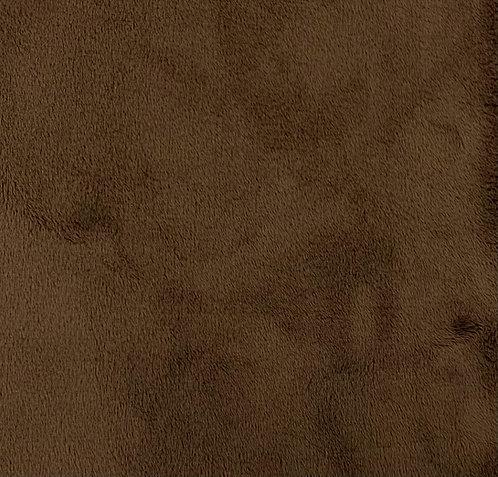 Chocolate (HF) Minky Cuddle Solid Fabric
