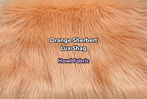 Orange Sherbert Luxury Shag Faux Fur SWATCH