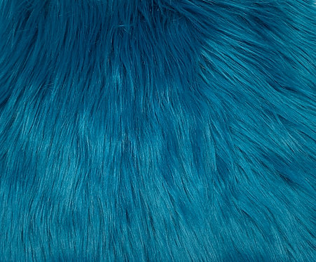 Teal Blue Luxury Shag SWATCH