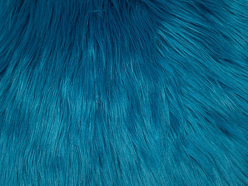 Teal Blue Luxury Shag Faux Fur