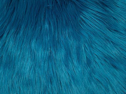Teal Blue Luxury Shag SWATCH